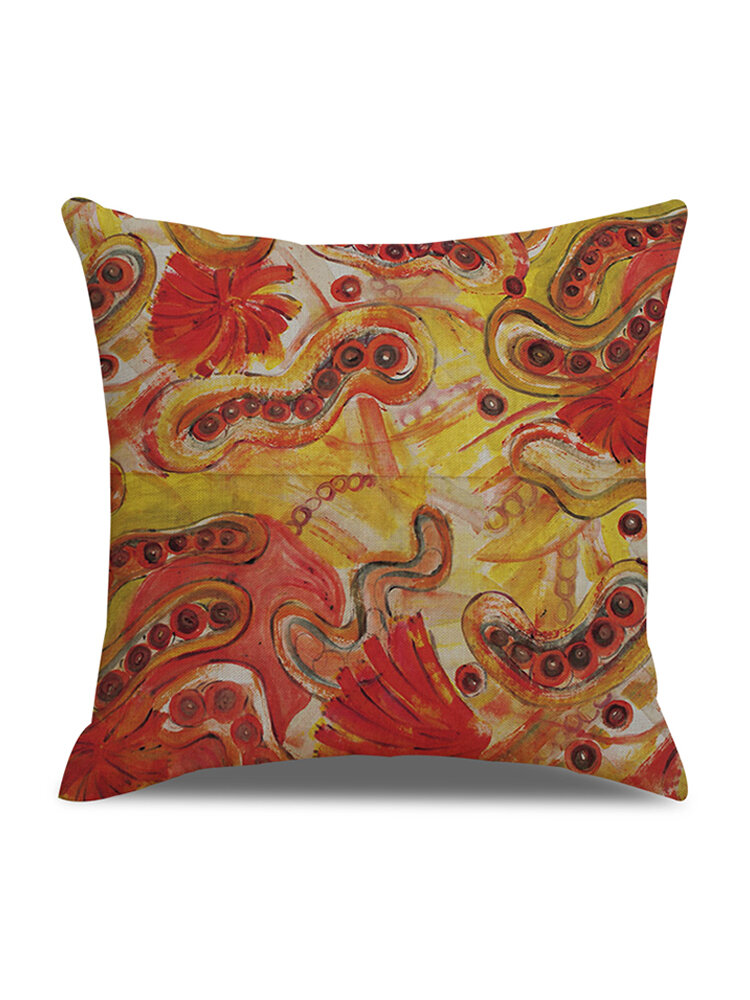 Modern Abstract Art Element Pattern Linen Cushion Cover Home Sofa Decor Office Throw Pillow Cases