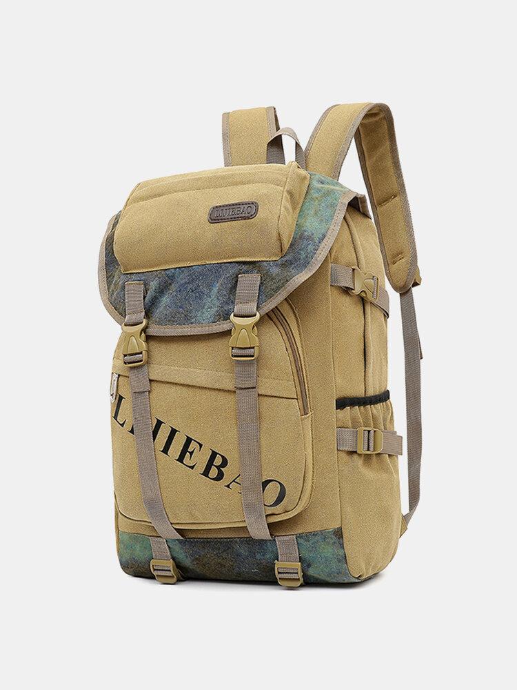 मेन आउटडोर कैनवस बड़ी क्षमता 15.6 इंच लैपटॉप बैग यात्रा बैग