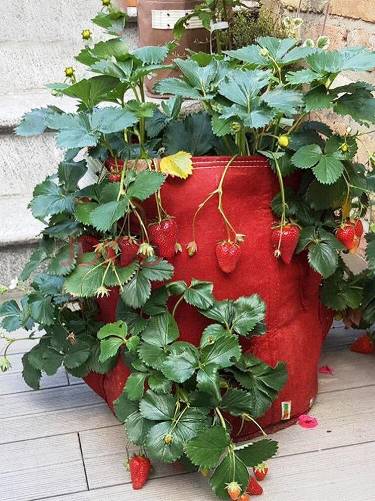 マルチポケットポテトストロベリープランターバッグバルコニーハーブ野菜ホームガーデンアウトドア