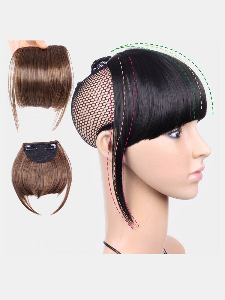 Air Bangs Wig Piece Chemical Fiber No-Trace Seamless Bangs Hair Extensions