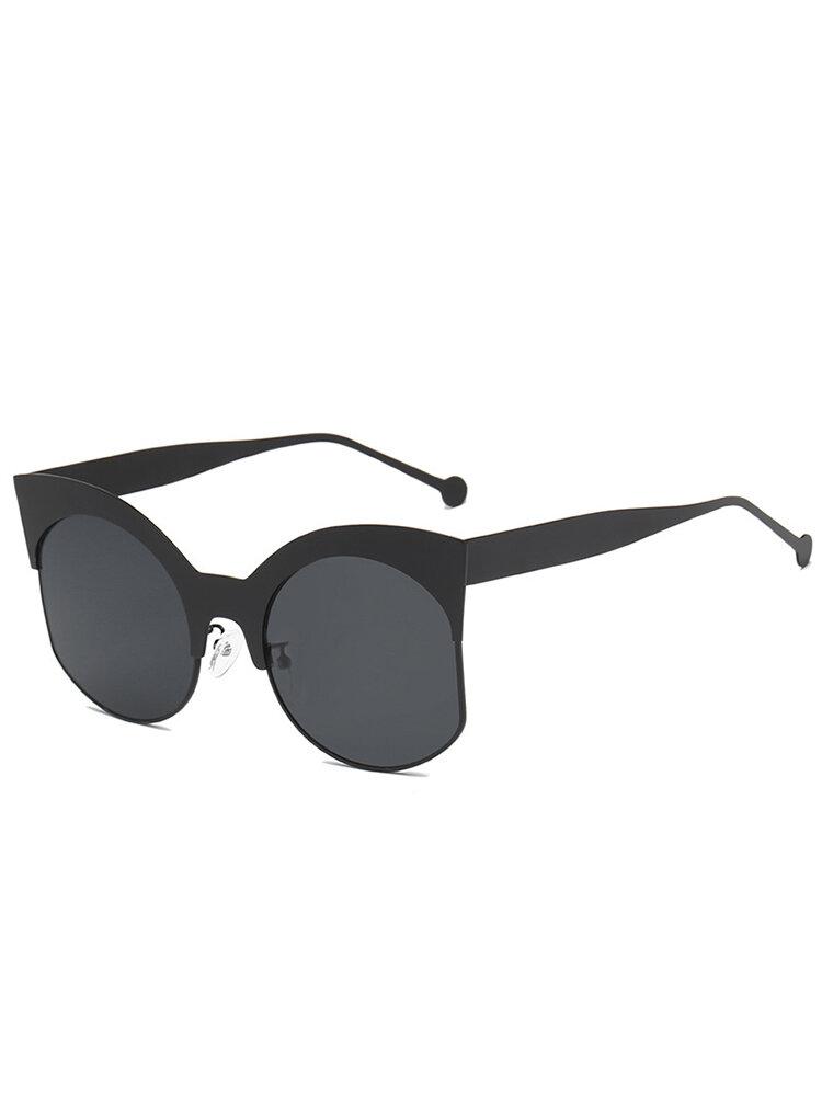 Women Metal Frame High Definition Sunglasses Outdoor Fashion Anti-UV Eye Glasses