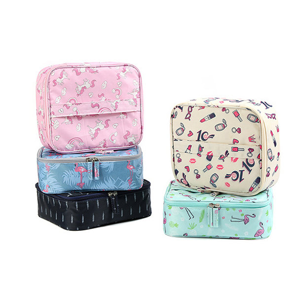 Portable Lazy Makeup Bag Large Capacity Cosmetic Bag Travel Storage Bag