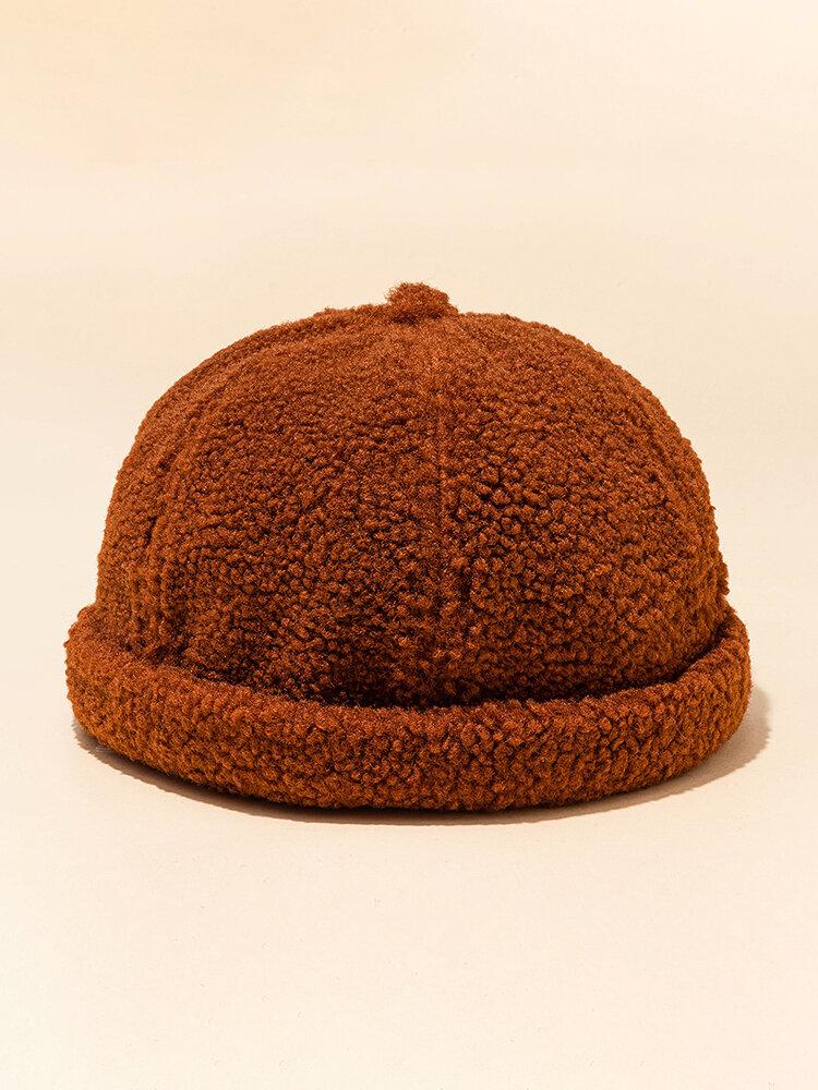 Men's Women's Wool Skull Caps Multi-color Hats Brimless Hat Warm Skull Caps