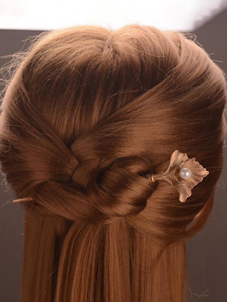 Vintage femmes épingles à cheveux en alliage de Zinc fleur perle mariage accessoires de cheveux de mariée chapeaux pour femmes
