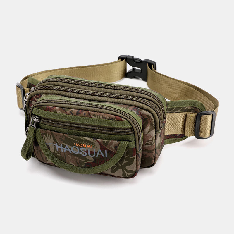 Men Waterproof Multi-pocket Camouflage Outdoor Chest Bag Belt Bag