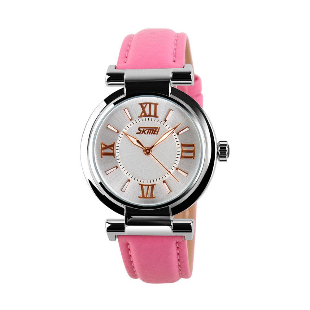 SKMEI Watch Casual Leather Watch for Women