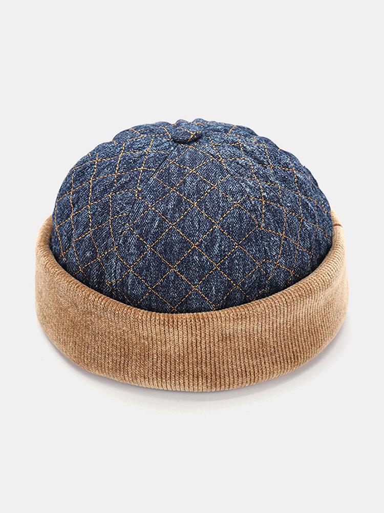 Men & Women Cotton Hip-hop Style Casual Street Trend Brimless Beanie Landlord Hat Skull Hat