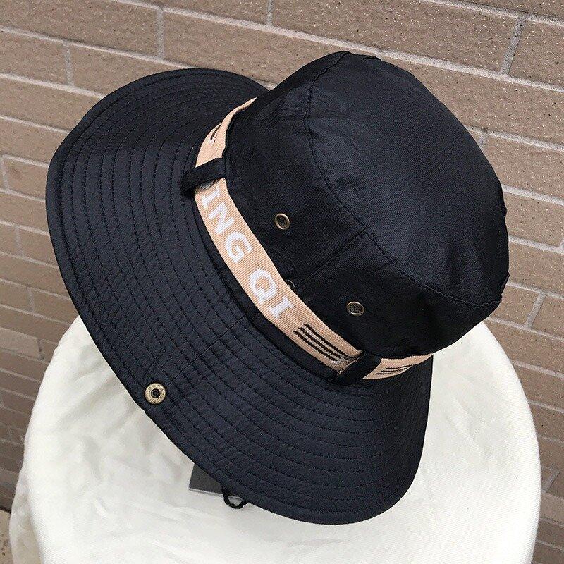 Unisex Fisherman Cap Breathable Can Tied Outdoor Climbing Beach Visor Bucket Cap, Black;navy;beige;grey;coffee;army green