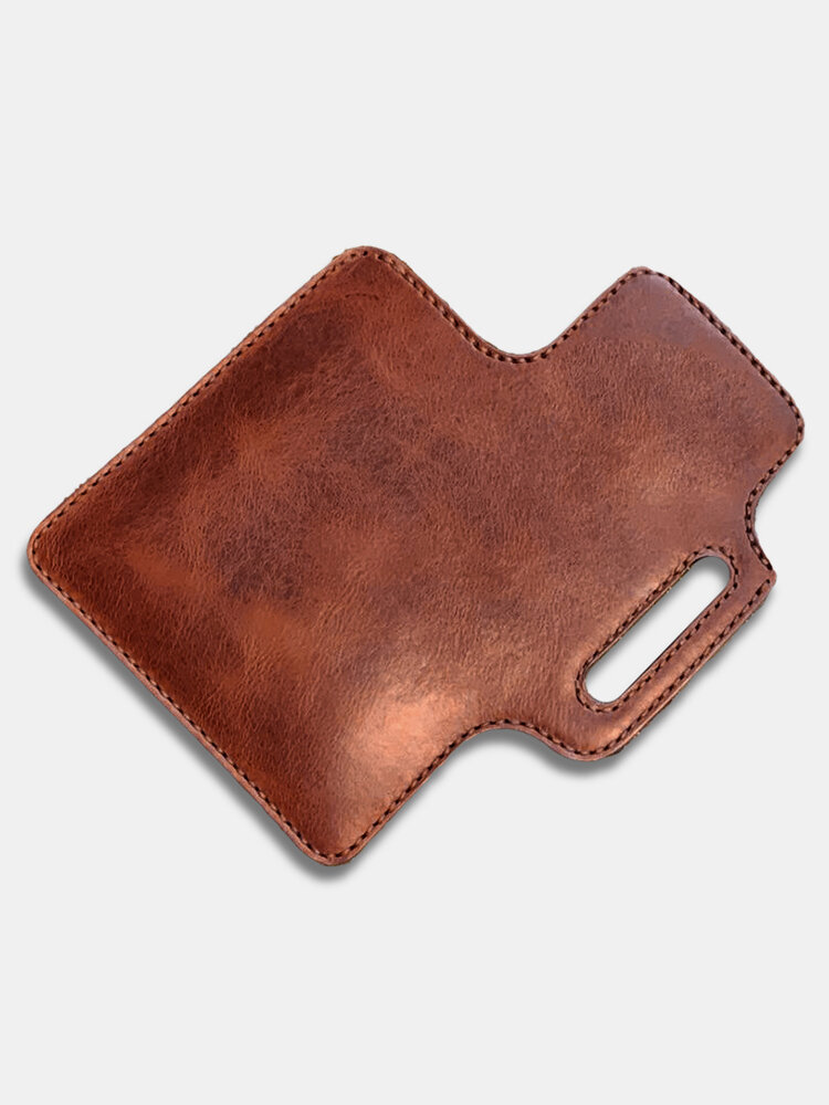 Men Genuine Leather Cow Leather EDC 6.5 Inch Phone Bag Wallet Waist Bag