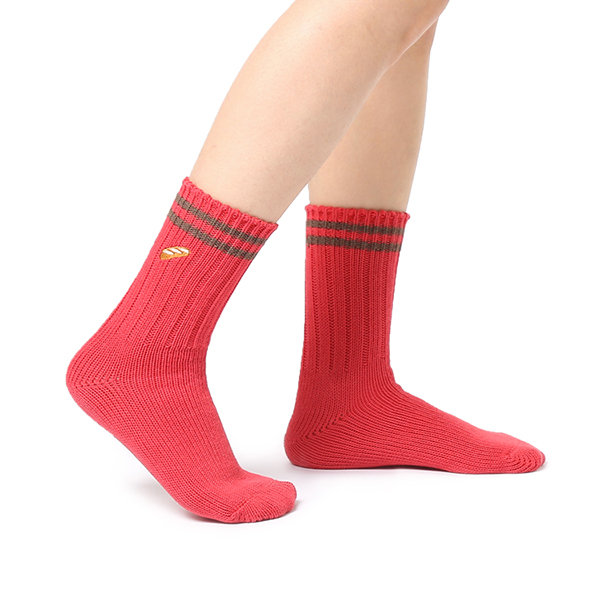 Women Warm Embroidery Hot Dog Pattern Cotton Socks Casual Breathable Elastic Middle Tube Socks