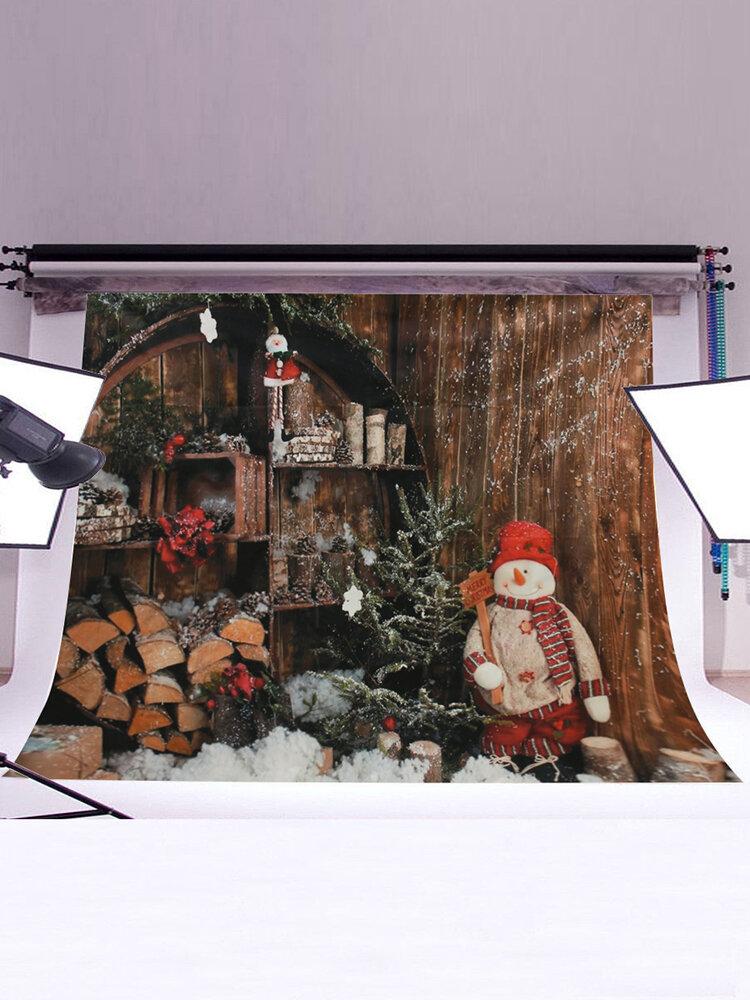 7x5FT Christmas Snowman Photography Background Props Studio Vinyl