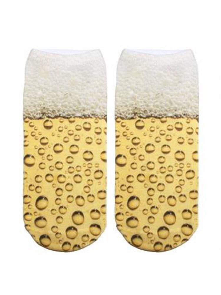 New Trend 3D Digital Printing Design Unisex Ship Socks Harajuku Style Cute Socks