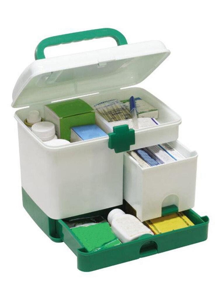 家庭用3層薬入れ健康ボックス応急処置収納箱
