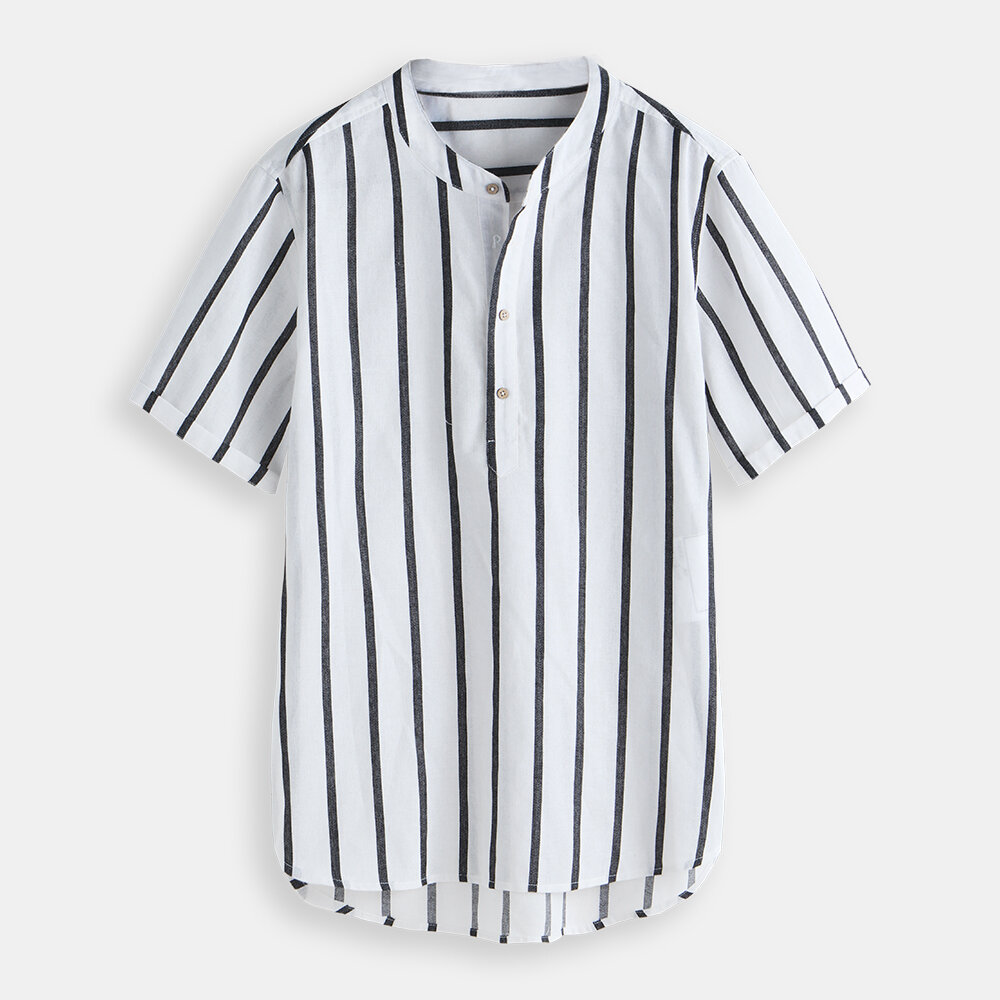 49c40cff70 Mens Cotton Linen Casual Short Sleeves T-Shirts Breathable Tops Outwear Tee  Shirts