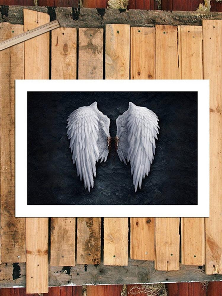 <US Instock>غير المؤطرة أجنحة الملاك الأزياء مجردة جدار الفن اللوحة غرفة المعيشة غرفة نوم ديكور فني