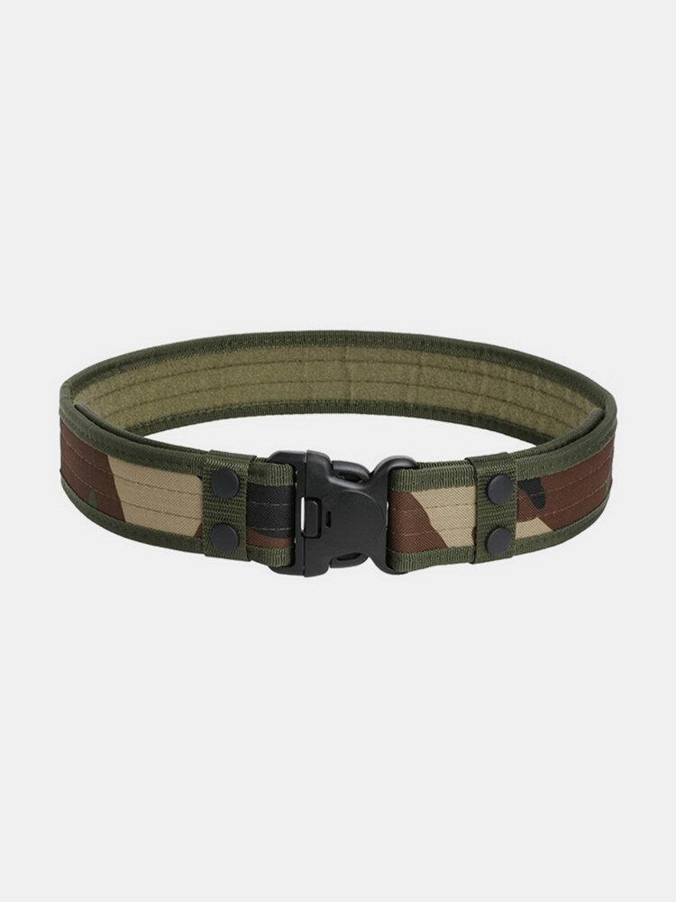 Men 130cm*5cm Canvas Combat Tactical Belts Durable Outdoor Army Belts