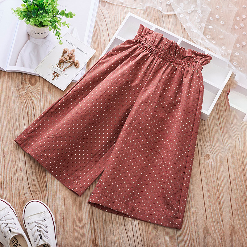 Polka_Dot_Print_Girls_Loose_Wide_Leg_Pants_For_29Y