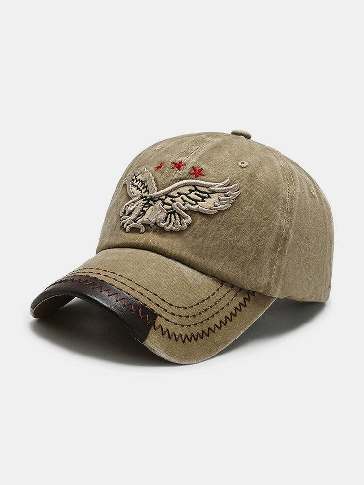 पुरुष कढ़ाई Eagle पैटर्न बेसबॉल कैप विंटेज आउटडोर सनशेड समायोज्य टोपी