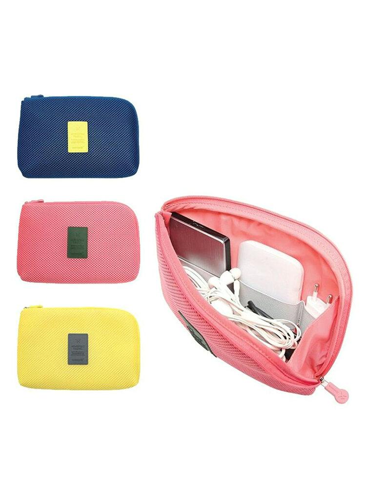 Multifunctional Fashion Travel Storage Bag Digital Data Cable Earphone Holder Organizer