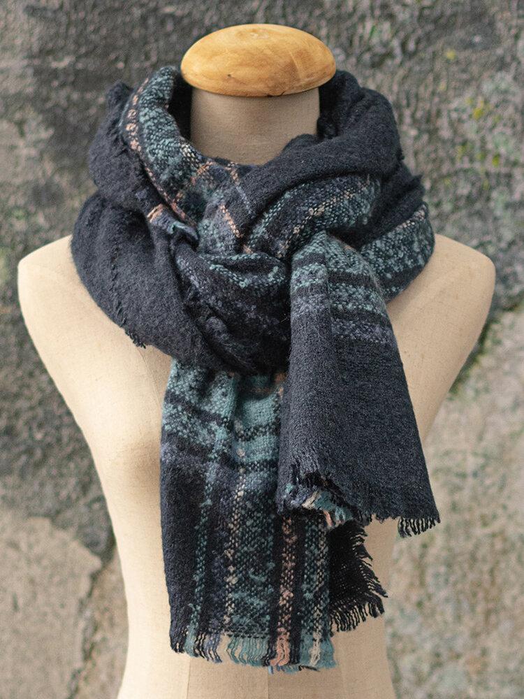 Women Scarf Shawl Wrap Buttoned Retro Crochet Wrap With Ethnic Custom