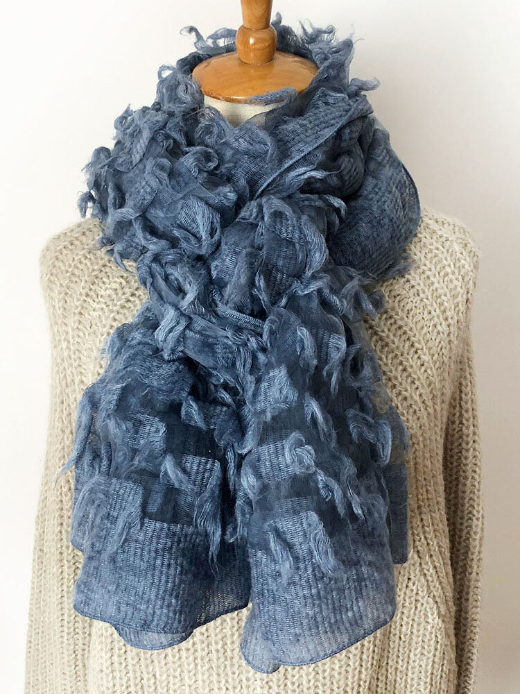 Source Of Autumn And Winter Korean Wool Scarf Female Cut Flower Hollow Scarf Shawl