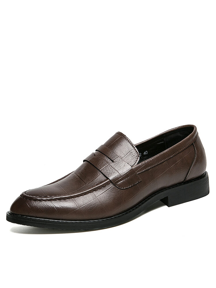 Men Comfy Round Toe Business Casual Formal Dress Shoes