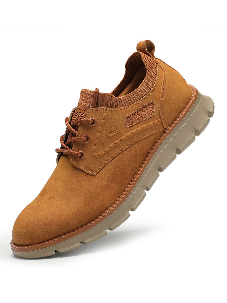 Men Comfy Soft Oxfords Lace Up Casual Driving Shoes