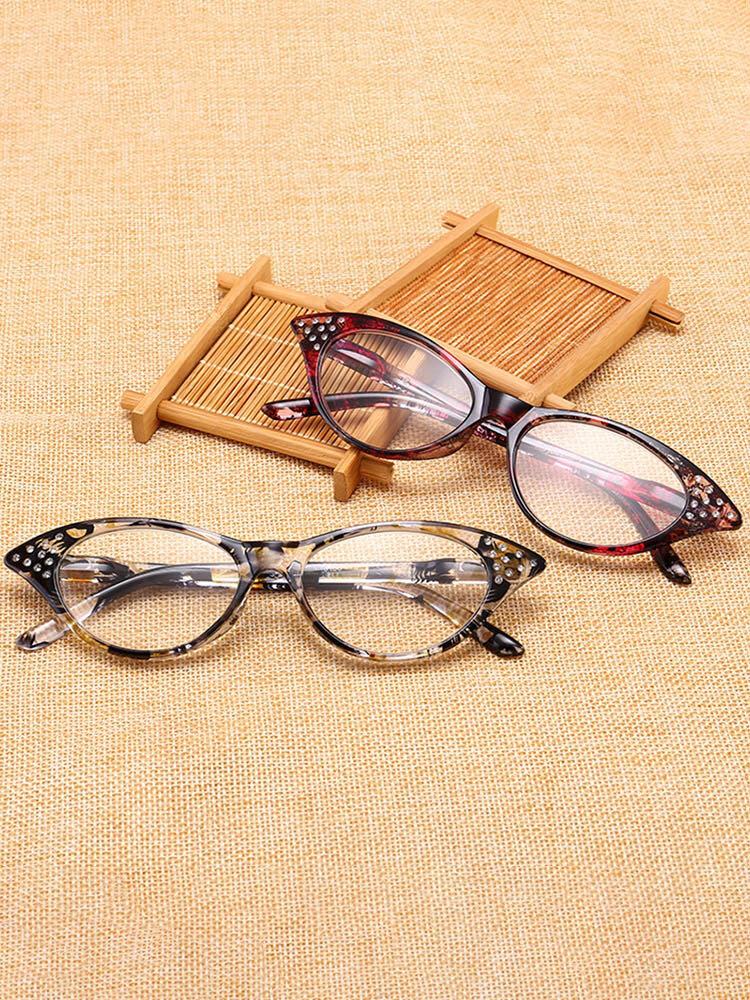 Lunettes de lecture oeil de chat à full cadre à verre en résine lunettes de hyperopie