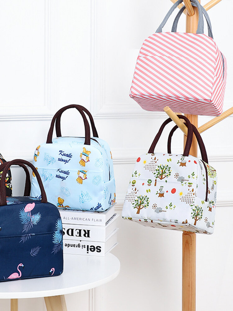 Large Capacity Korea Small Fresh Printing Insulation Bag Ice Bag Printing Lunch Bag Portable Lunch Bag