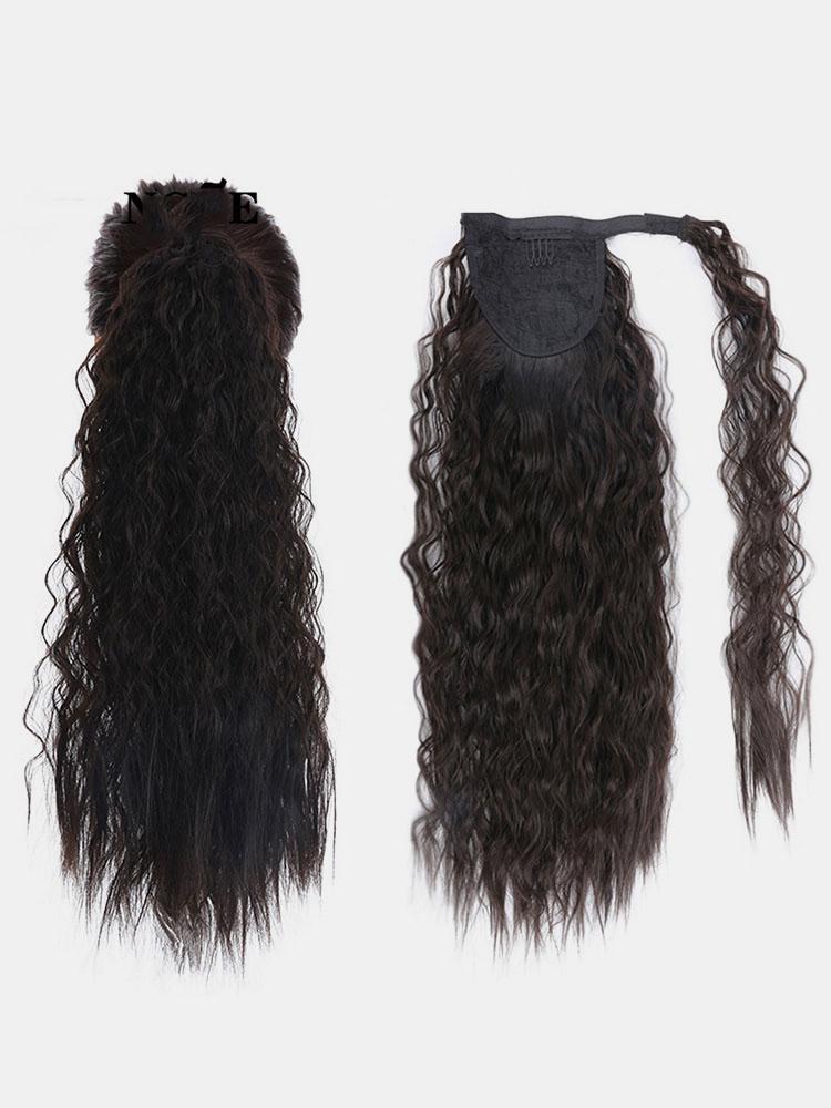 11 цветов кукуруза Пермский хвост Волосы Расширения пушистые длинные вьющиеся Парик шт.