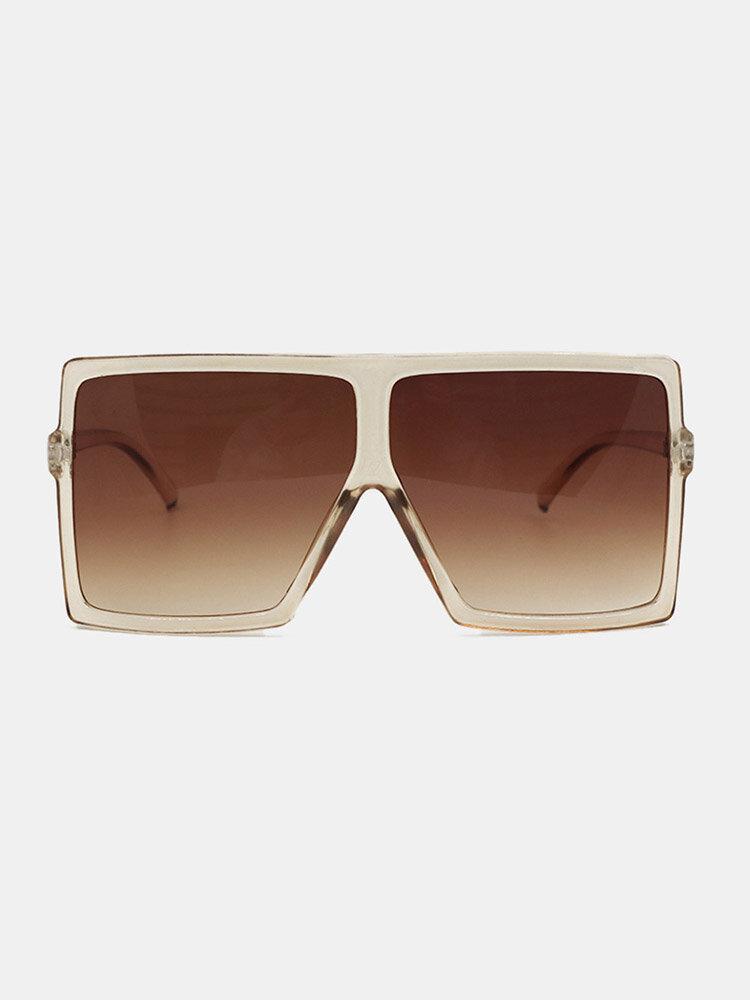 Women Oversized PC Full Square Frame UV Protection Fashion Sunglasses