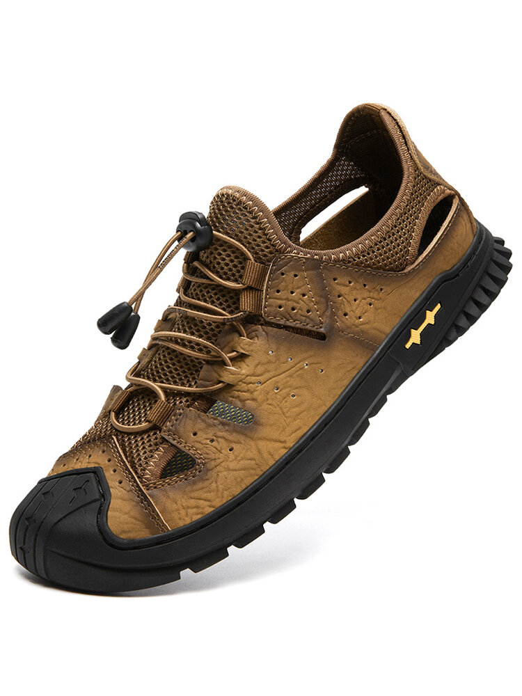 Men Closed Toe Collision Avoidance Soft Outdoor Hiking Sandals