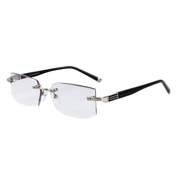 High Quality Reading Glasses Men Aspheric Hard Resin Coating Lenses Reader Eyeglasses Half Frame Gol