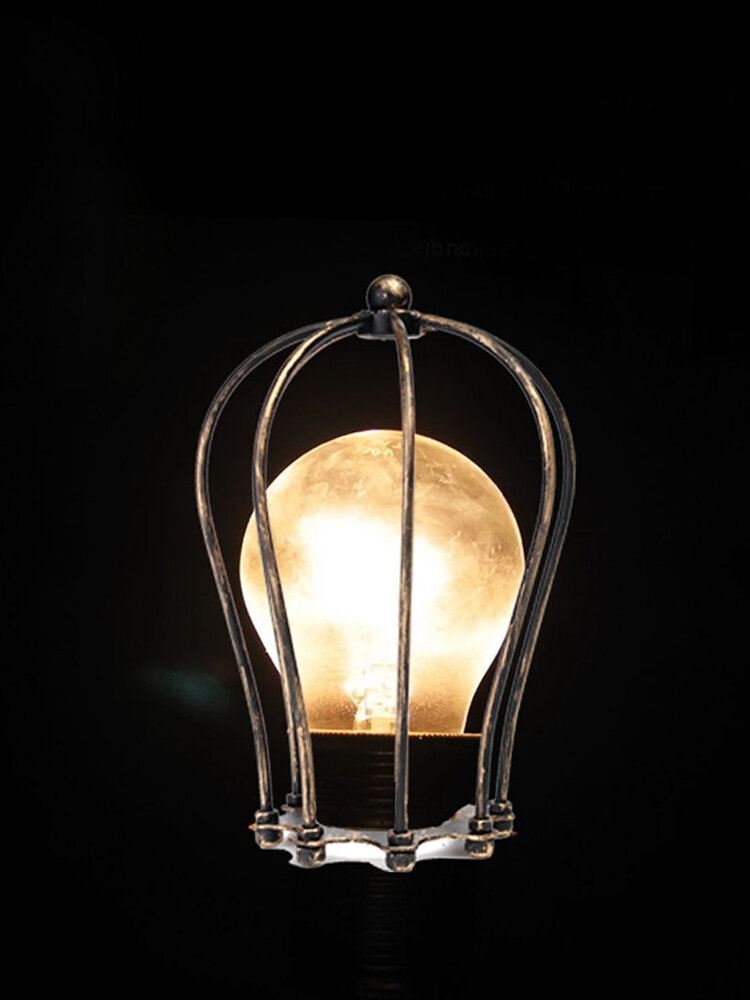 विंटेज आयरन वायर बल्ब पिंजरे लैंपशाडे होम लाइट सजावट