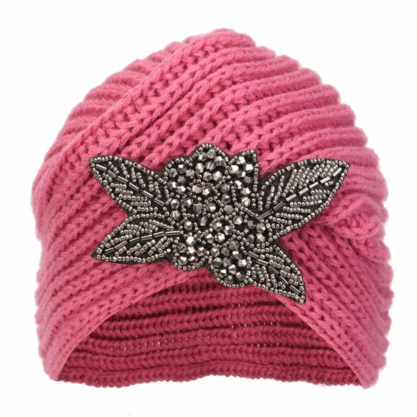 Women Lady Wool Knitted Cap Beret Braided Baggy Beanies Winter Warm Ski Hats