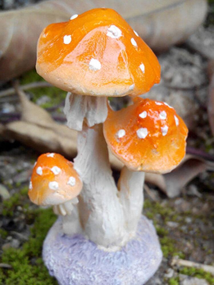 植木鉢の妖精の庭の装飾に最適なミニキノコ毒キノコの庭の装飾