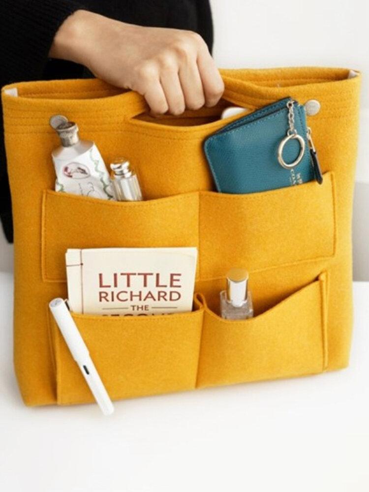 Portable Multi-Function Handbag Computer Data Cable Cosmetic Storage Bag