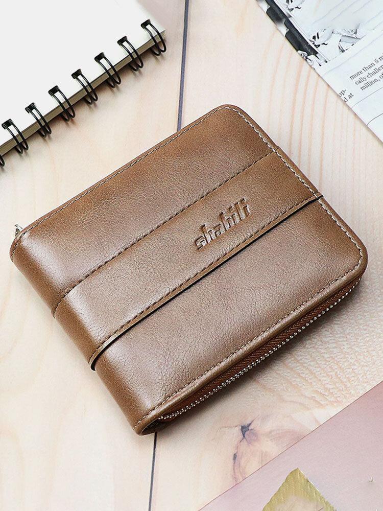 Men Vintage Multifunction Large Capacity PU Leather Multi-card Slots Money Clips Wallet