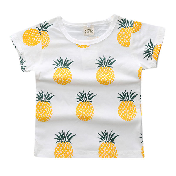 Baby Girls Summer T-Shirt Short Sleeve Cute Printed Kids Infant Baby Summer Tops Clothes