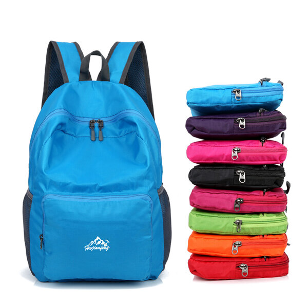 Nylon Folding Lightwight Backpack Shoulder Bag Outdoor Sports Bag