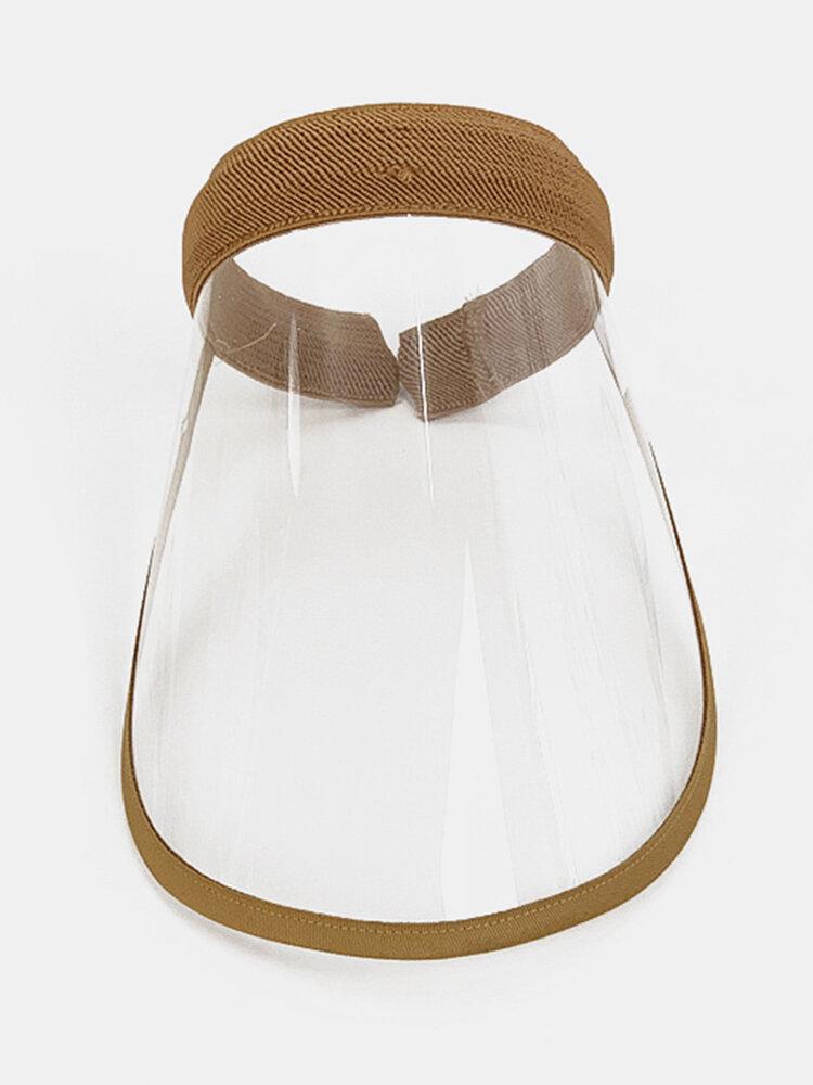 Portable Dustproof Cap Big Brim Cover Face Hat Transparent Empty Top Hat