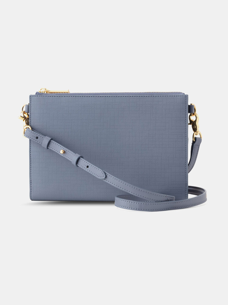 Faux Leather Multi-pocket Large Capacity Crossbody Bag Anti-magnetic Card Holder Clutches Bag Phone Bag