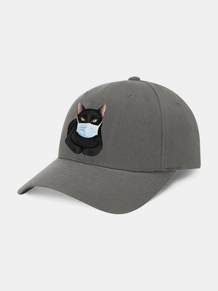 Collrown Cartoon Cat Mask Isolated Hat Cotton Quarantined Bucket Hat