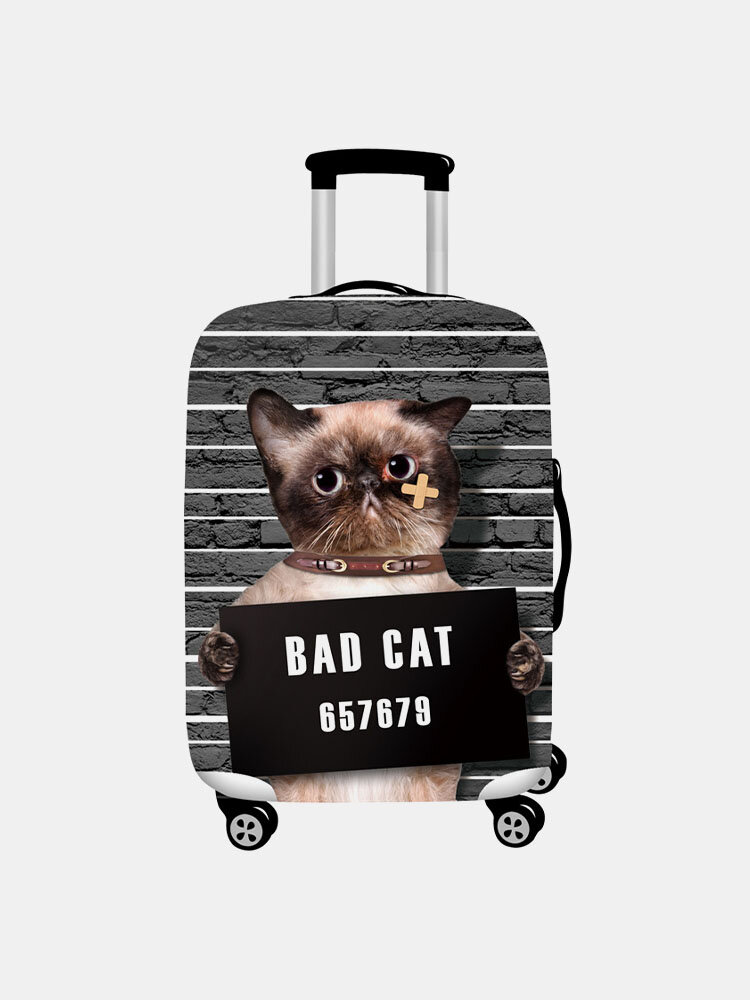 Women Cat Print Luggage Case Wear-resistant Travel Luggage Protective Cover