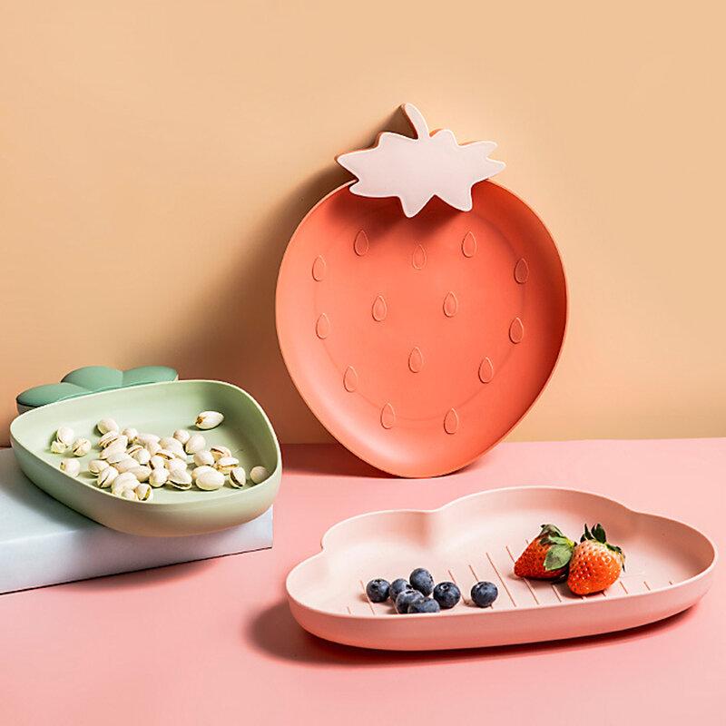 طبق فاكهة شمالي بسيط الإبداعية لوحة فواكه مجففة غرفة المعيشة بذور البطيخ وجبات خفيفة الحلوى طبق التخزين