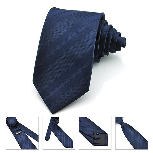 Pensee Men's Twill Stripe Silk Tie Neckties -Various Colors Accessories
