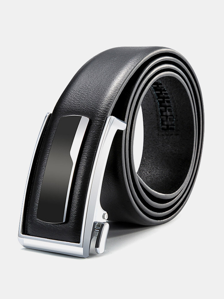 120CM Men Genuine Leather Alloy Automatic Buckle Business Casual All-match Belts