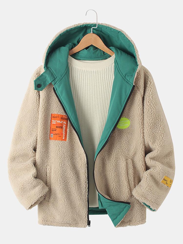 Pardessus à capuche sherpa chauds et zippéss - Newchic - Modalova