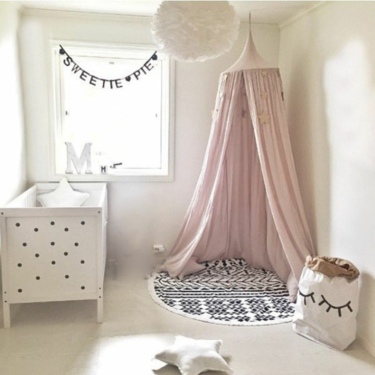 Princess Canopy for Girl Beds Kids Bed Canopy Baby Crib Net Play Tent Bedding for Bedrooms