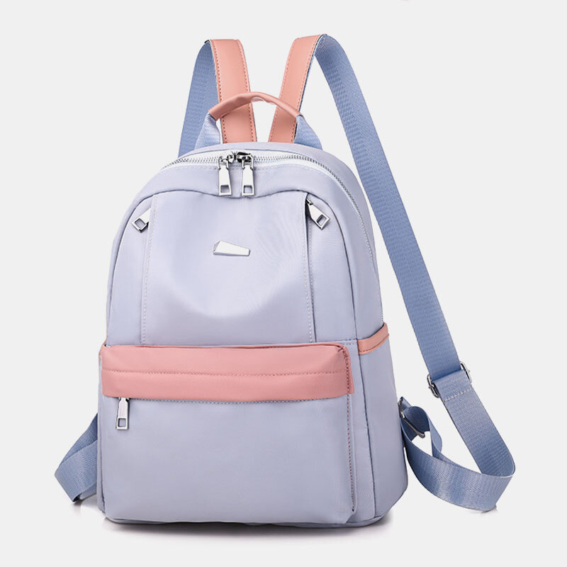 Women Oxford Waterproof Anti-theft Patchwork Casual Backpack